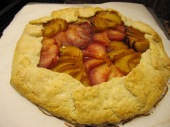 Plum galette using fresh plums and pluots from the farmers market