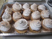 Snickerdoodle cupcakes with caramel meringue topping. The kids love these and they go really fast.