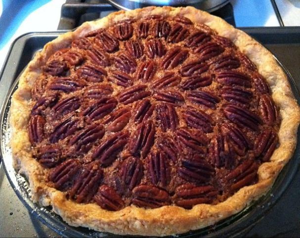 OMG, was this a tasty pie filled with tender pecans